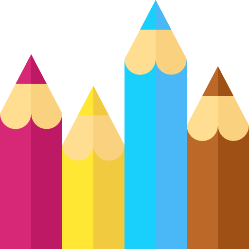 Icone Crayons de couleurs